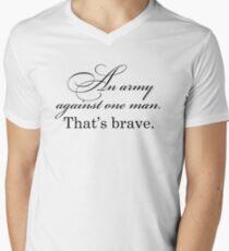 Poldark - An army against one man. That's brave. Mens V-Neck T-Shirt