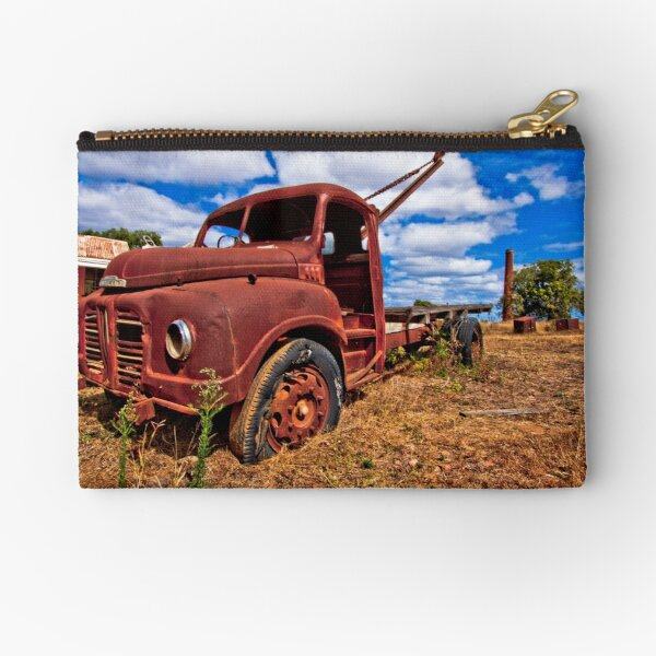 Rusty Austin Zipper Pouch