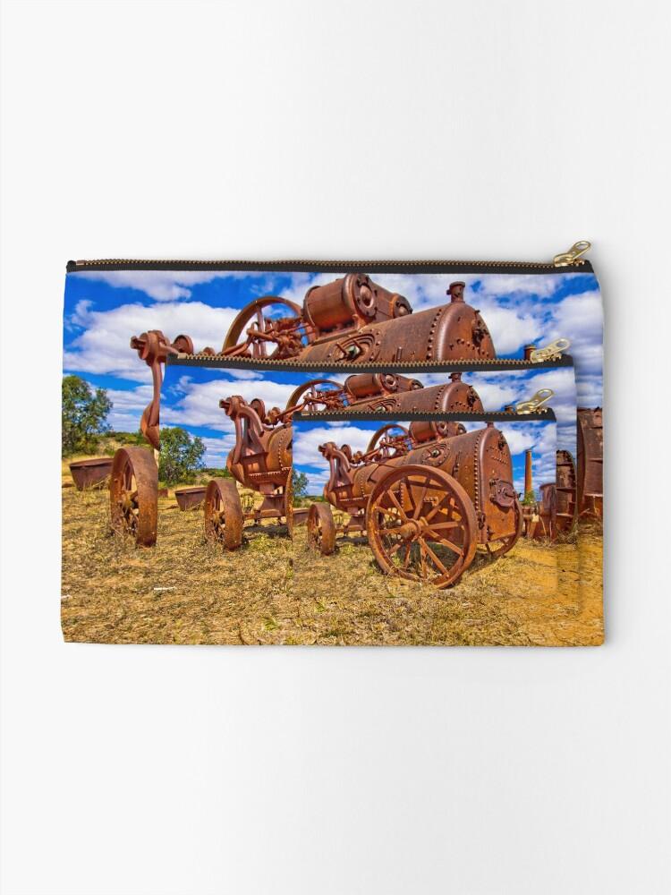 Alternate view of Rusty Steam Zipper Pouch