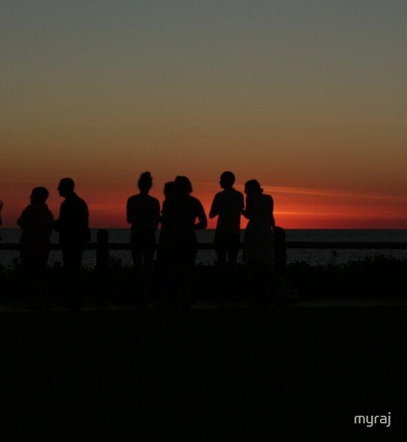 Sunset at Mindil Beach by myraj