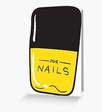 Yellow Nail Polish Greeting Card