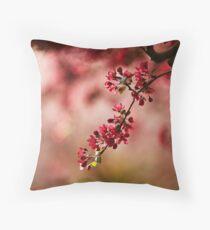 Burgundy blossoms  Throw Pillow