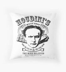 Houdini's Magic Shop Throw Pillow