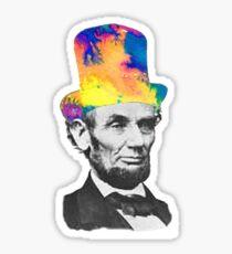Trippy Abraham Lincoln Sticker