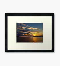 Birthday Evening On Lake Havasu Framed Print