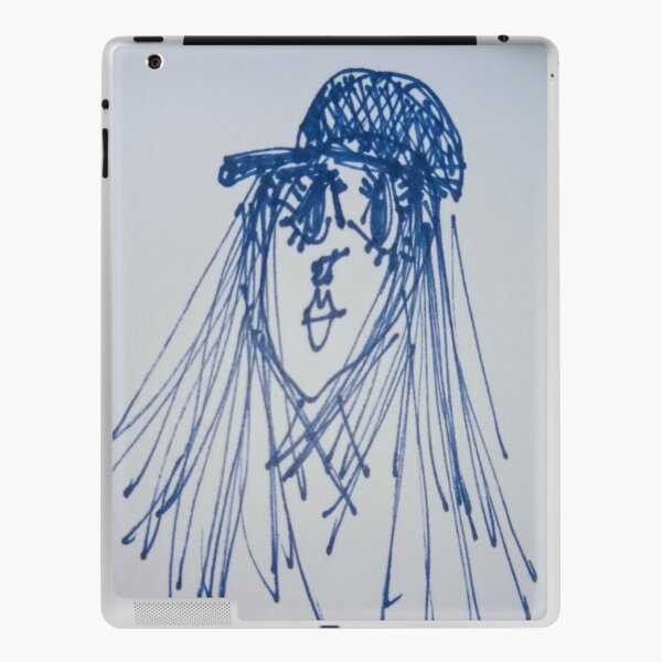 Lucia. Natural eyelashes.  iPad Skin