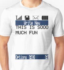 Text Message (white) Unisex T-Shirt