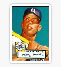 Mickey Mantle New York Yankees Baseball MLB Rookie Card Sticker