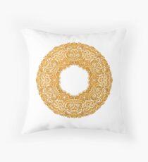 Golden doughnut  Throw Pillow