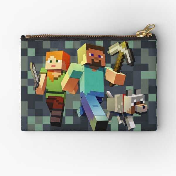 Minecraft Camouflage Heroes Zipper Pouch
