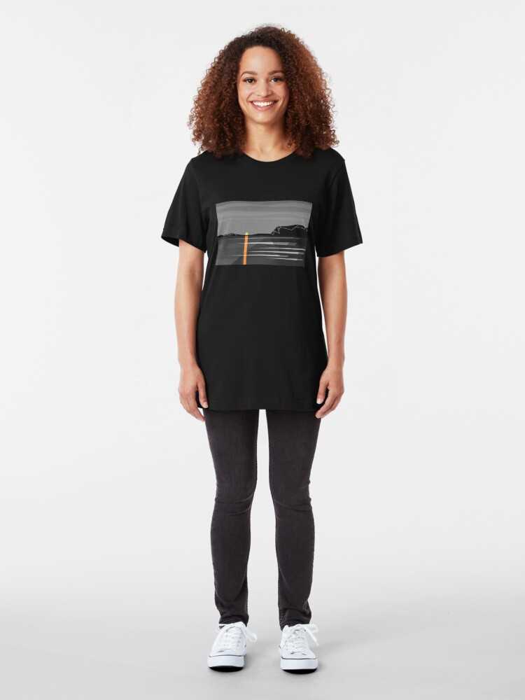 Alternate view of sunset 2 Slim Fit T-Shirt