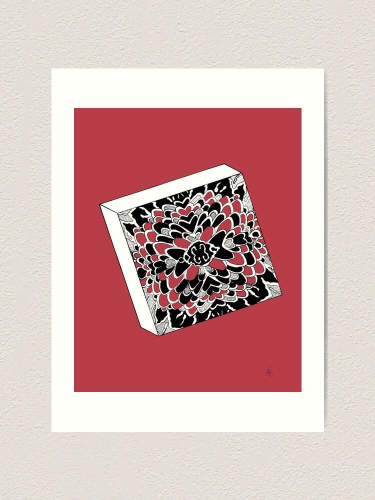 Alternative Ansicht von Der Würfel in rot - The dice in red Kunstdruck