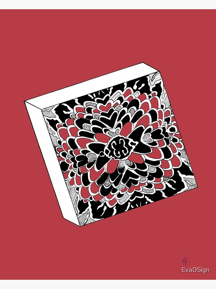 Der Würfel in rot - The dice in red von EvaDSign