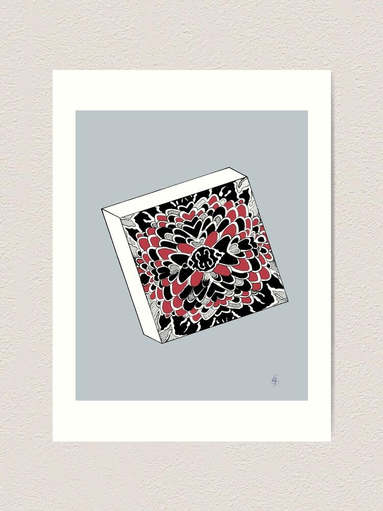 Alternative Ansicht von Der Würfel in rot & silber - The dice in red & silver Kunstdruck