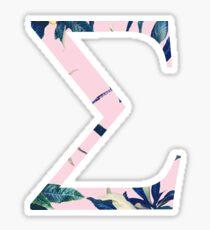 Sigma with Plants Sticker