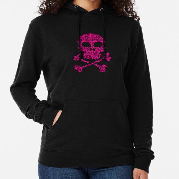 Hot Pink Skull filled with Skulls Lightweight Hoodie
