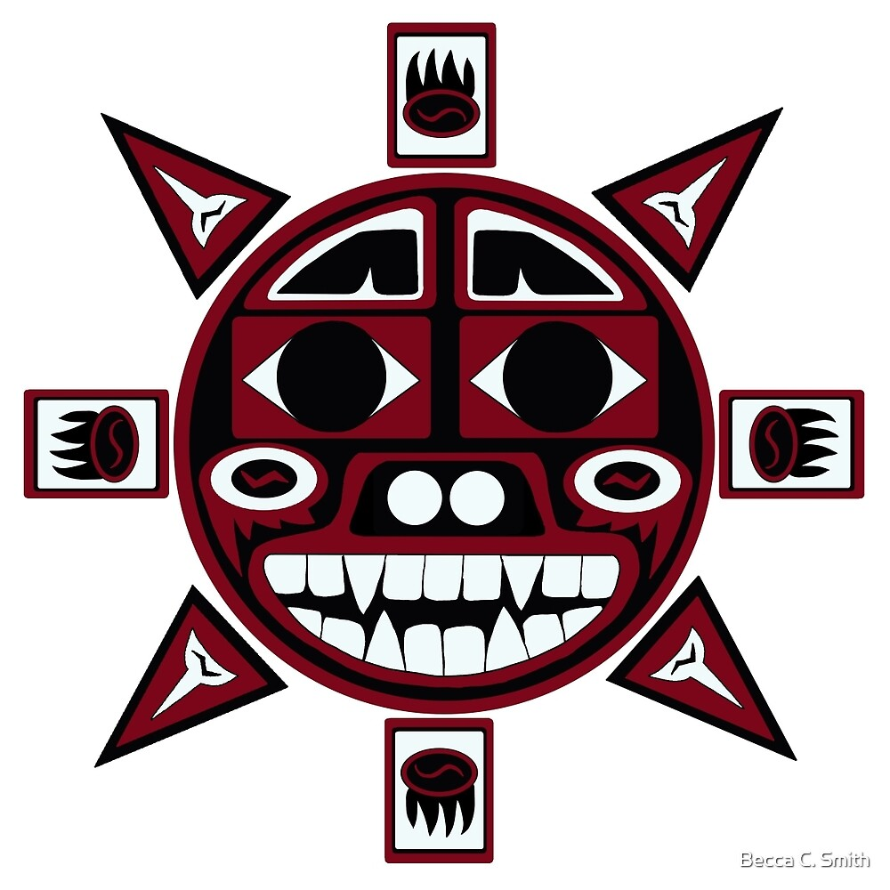 Northwest indian bear sun by becca c smith redbubble northwest indian bear sun biocorpaavc Image collections