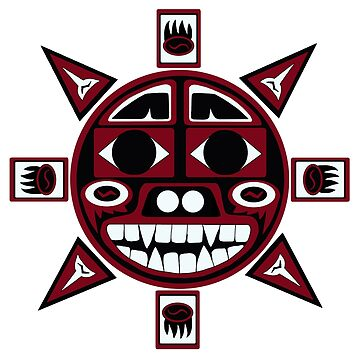 Northwest Indian Bear Sun by beccers222