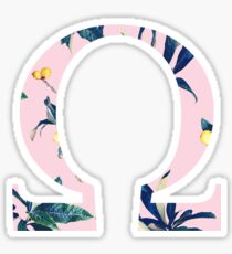 Omega with Plants Sticker