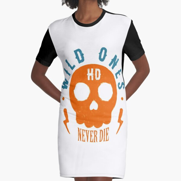 Wild Ones Never Die Graphic T-Shirt Dress