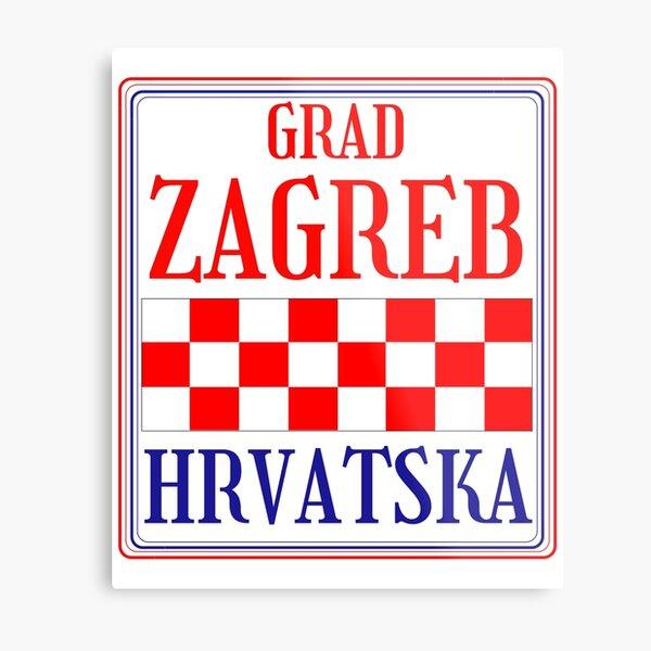 Croatian City of Zagreb Metal Print