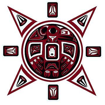 Northwest Indian Thunderbird Sun by beccers222