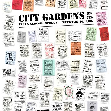 City Gardens Punk Card Print version 1.0 by Fitcharoo