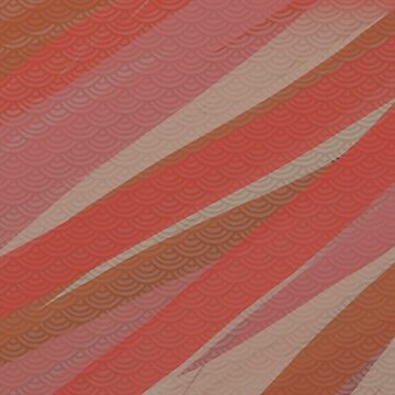 Pantone 2016 Autumn Fall Shell Stripes by 8-Bit-Wonder