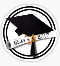 Class of 2017 - Grad Cap with Diploma Sticker