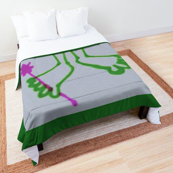 Healthy happy feet in green Comforter