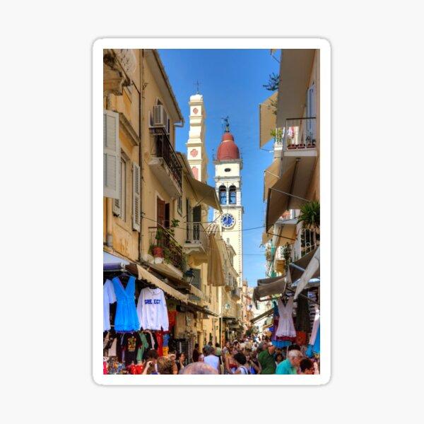 Busy Corfu Lane Sticker