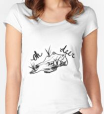 Oh Deer...(Shaded) Women's Fitted Scoop T-Shirt