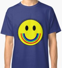 Rainbow Smiley Face Classic T-Shirt