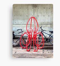 Octopus Bicycle Friend Leinwanddruck