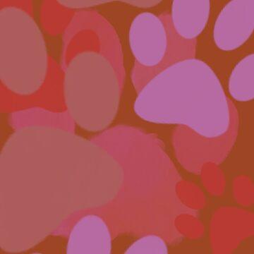 Pantone 2016 Autumn Fall Pawprint by 8-Bit-Wonder