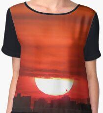 New York City Sunset Women's Chiffon Top