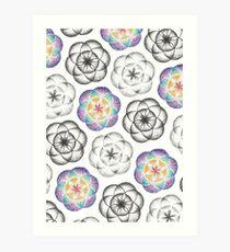 Sacred Geometry Circles Art Print