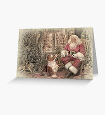 Pups love Santa Paws! Greeting Card