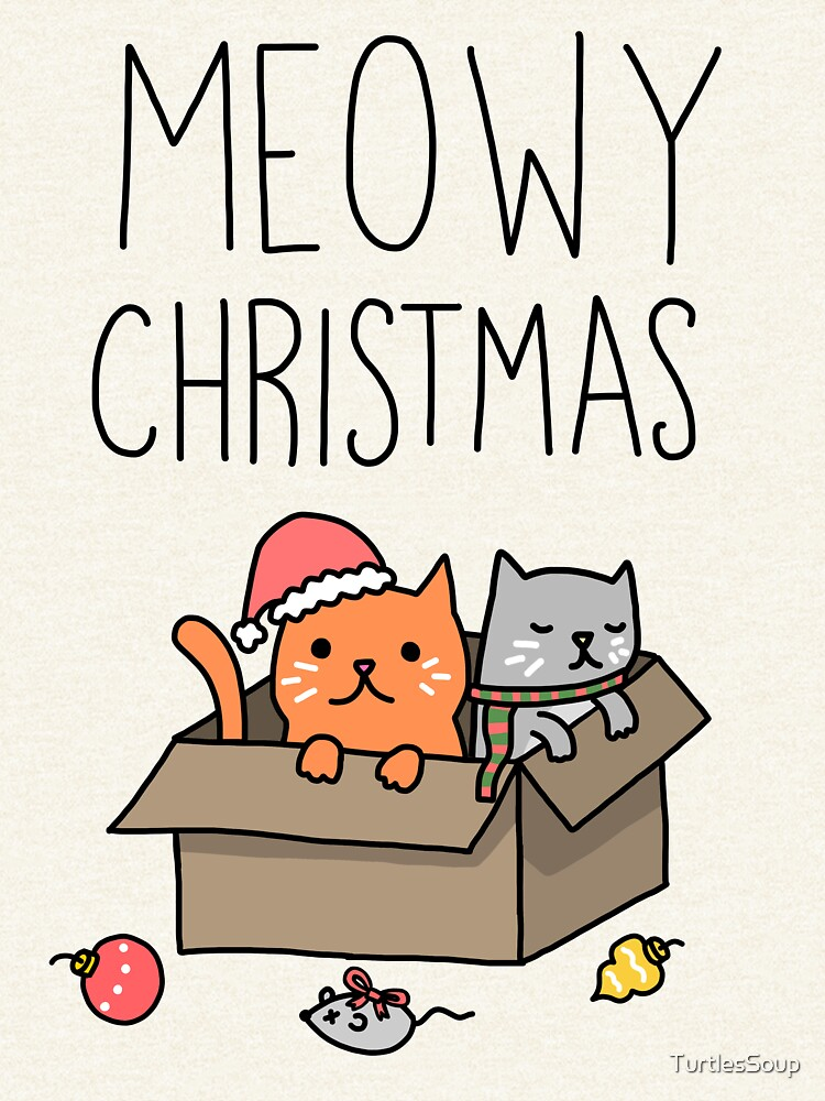 Meowy Christmas Cat Holiday Pun by TurtlesSoup