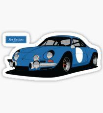 "Renault Alpine A110 ""Rally"" Sticker"