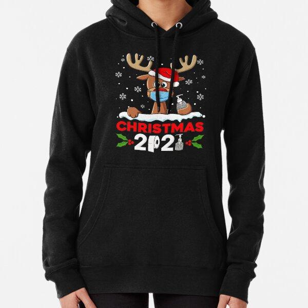 Reindeer Christmas 2021 Funny Xmas Pullover Hoodie