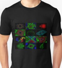 Twelve Fractal Images with Borders (Limited Palette)  T-Shirt