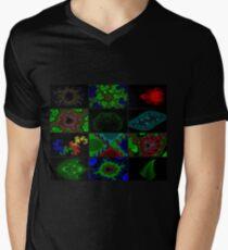 Twelve Fractal Images with Borders (Limited Palette)  Men's V-Neck T-Shirt