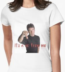 Simon Cowell It's a No From Me Womens Fitted T-Shirt