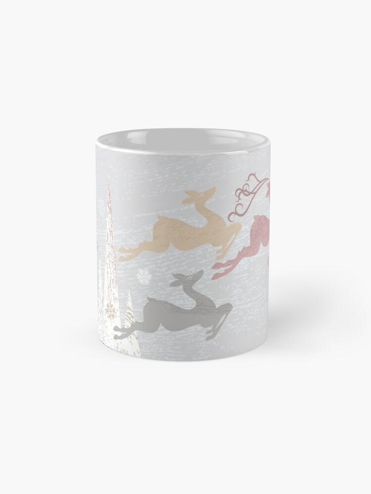 Alternate view of Flying Christmas Deer Mug