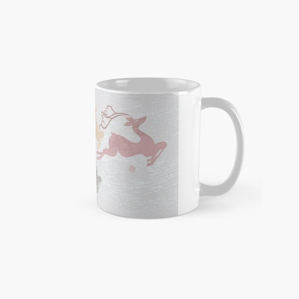 Flying Christmas Deer Mug