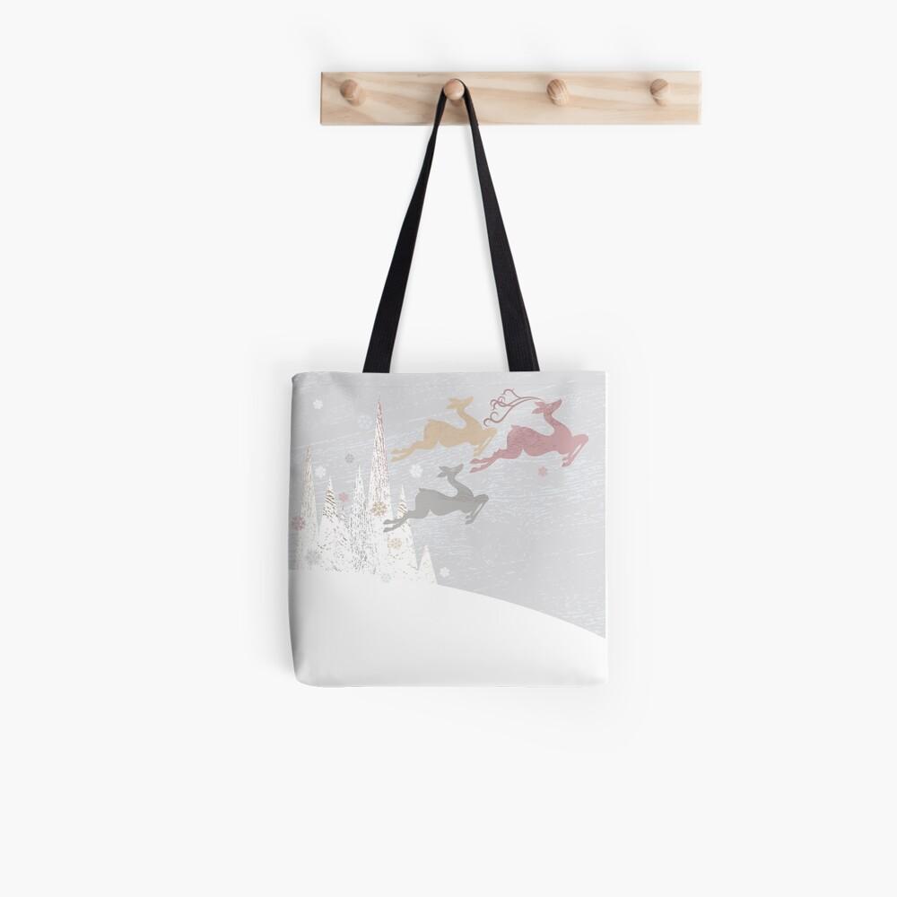 Flying Christmas Deer Tote Bag