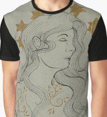 Art Nouveau Star Crown Graphic T-Shirt