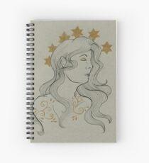 Art Nouveau Star Crown Spiral Notebook