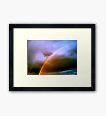 Dos Rainbows Framed Print